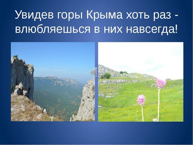 Увидев горы Крыма хоть раз - влюбляешься в них навсегда!