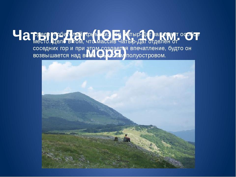 Чатыр-Даг (ЮБК, 10 км. от моря) Среди любителей Крымских гор Чатыр-Даг зани...