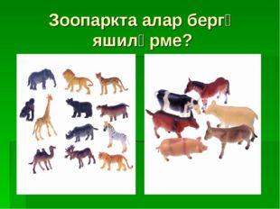 Зоопаркта алар бергә яшиләрме?