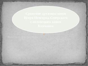 Выполнила: Девятых Юнна Сражение дружины князя Игоря Новгород-Северского с по