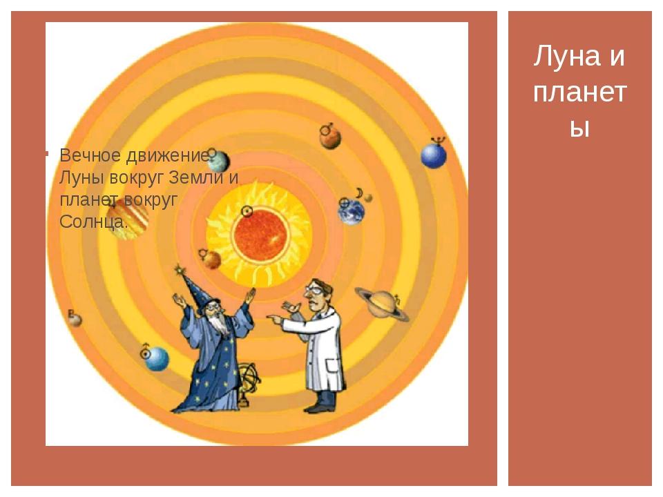 Вечное движение Луны вокруг Земли и планет вокруг Солнца. Луна и планеты