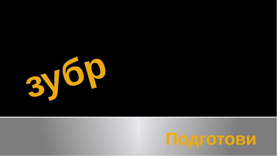 зубр Подготовил ученик начальных классов Лопатин Дмитрий 3В класса №38 школы...
