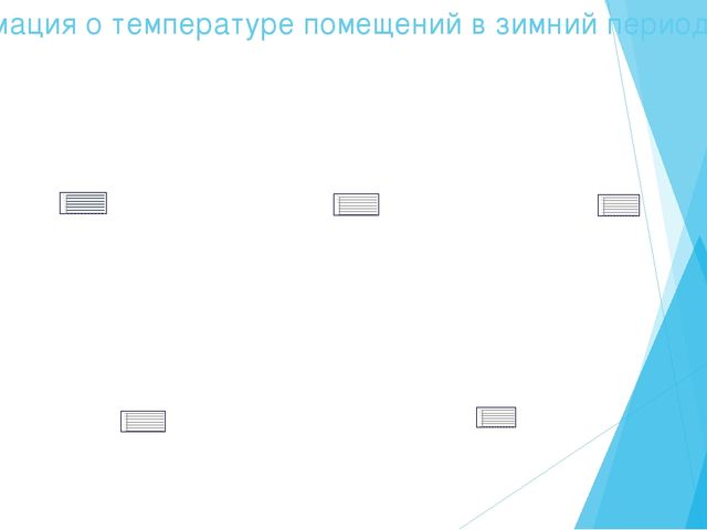 Информация о температуре помещений в зимний период, (ºС)