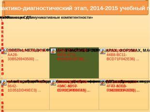 Практико-диагностический этап, 2014-2015 учебный год