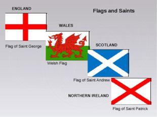Flags and Saints ENGLAND WALES SCOTLAND NORTHERN IRELAND Flag of Saint George