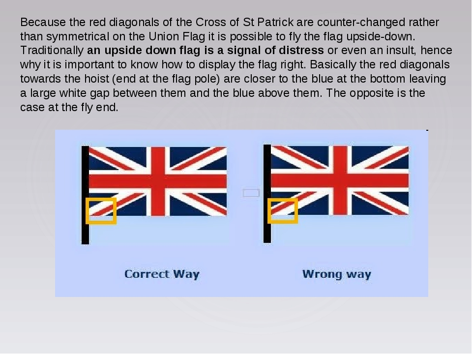 Because the red diagonals of the Cross of St Patrick are counter-changed rath...