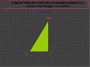 A B C a b c c2 = a2 + b2 В прямоугольном треугольнике квадрат гипотенузы раве