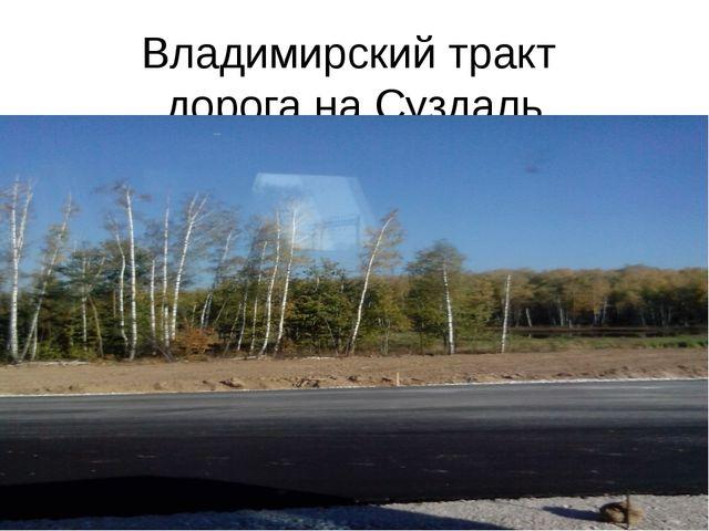 Владимирский тракт дорога на Суздаль
