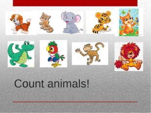 Count animals!