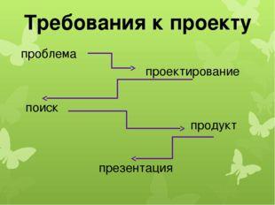 Требования к проекту проблема проектирование поиск продукт презентация