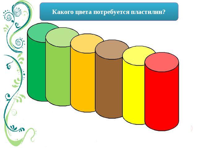 Какого цвета потребуется пластилин?