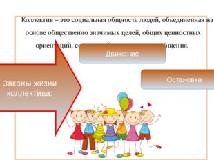 Коллектив – это социальная общность людей, объединенная на основе обществен