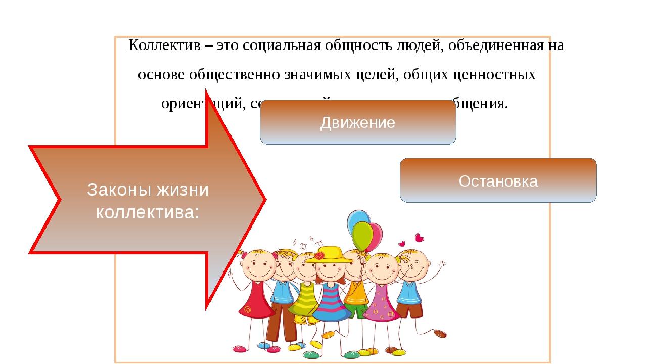 Коллектив – это социальная общность людей, объединенная на основе обществен...