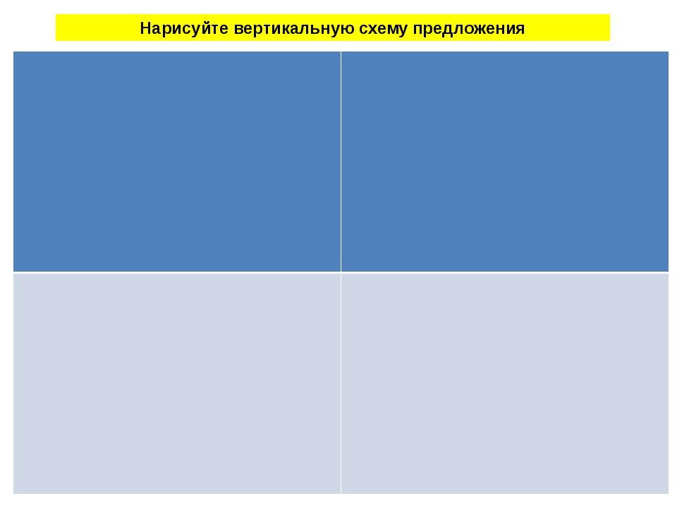 Нарисуйте вертикальную схему предложения