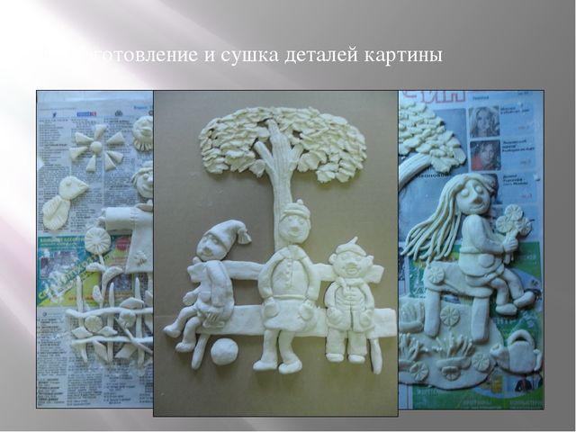 Изготовление и сушка деталей картины