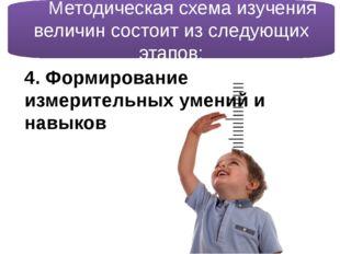 4. Формирование измерительных умений и навыков  Методическая схема изучения