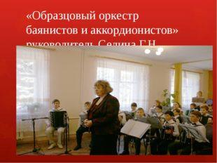 «Образцовый оркестр баянистов и аккордионистов» руководитель Селина Г.Н.