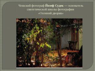 Чешский фотограф Йозеф Судек — основатель синтетической школы фотографии «Осе