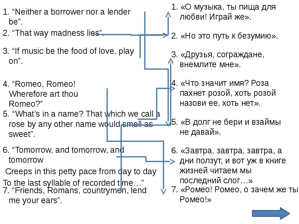 """7. """"Friends, Romans, countrymen, lend me your ears"""". 7. «Ромео! Ромео, о заче..."""