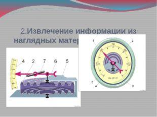 2.Извлечение информации из наглядных материалов учебника