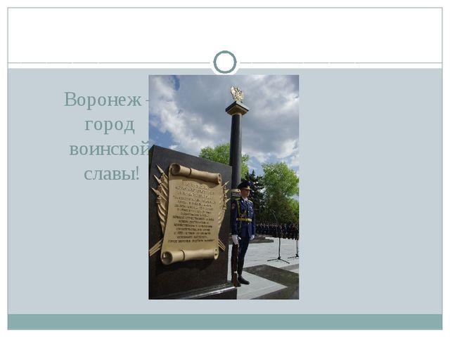 Воронеж – город воинской славы!