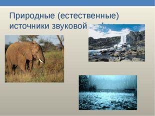 Природные (естественные) источники звуковой информации