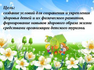 Цель: создание условий для сохранения и укрепления здоровья детей и их физич