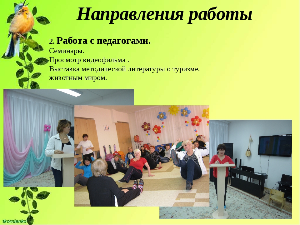 Направления работы 2. Работа с педагогами. Семинары. Просмотр видеофильма ....