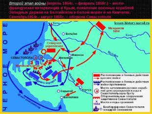 Второй этап войны (апрель 1854г. – февраль 1856г.) – англо-французская интерв