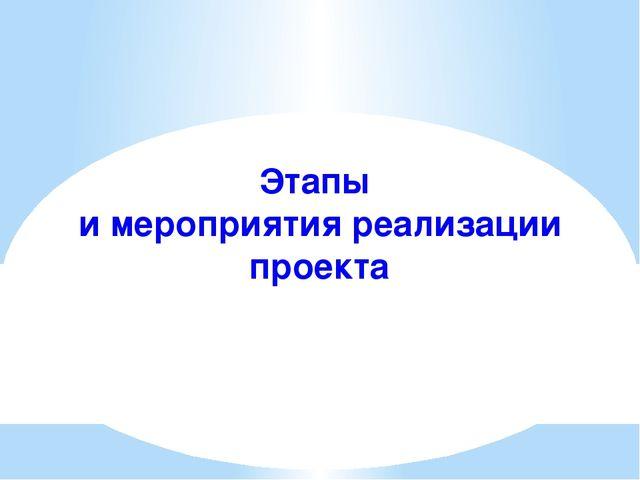 Этапы и мероприятия реализации проекта