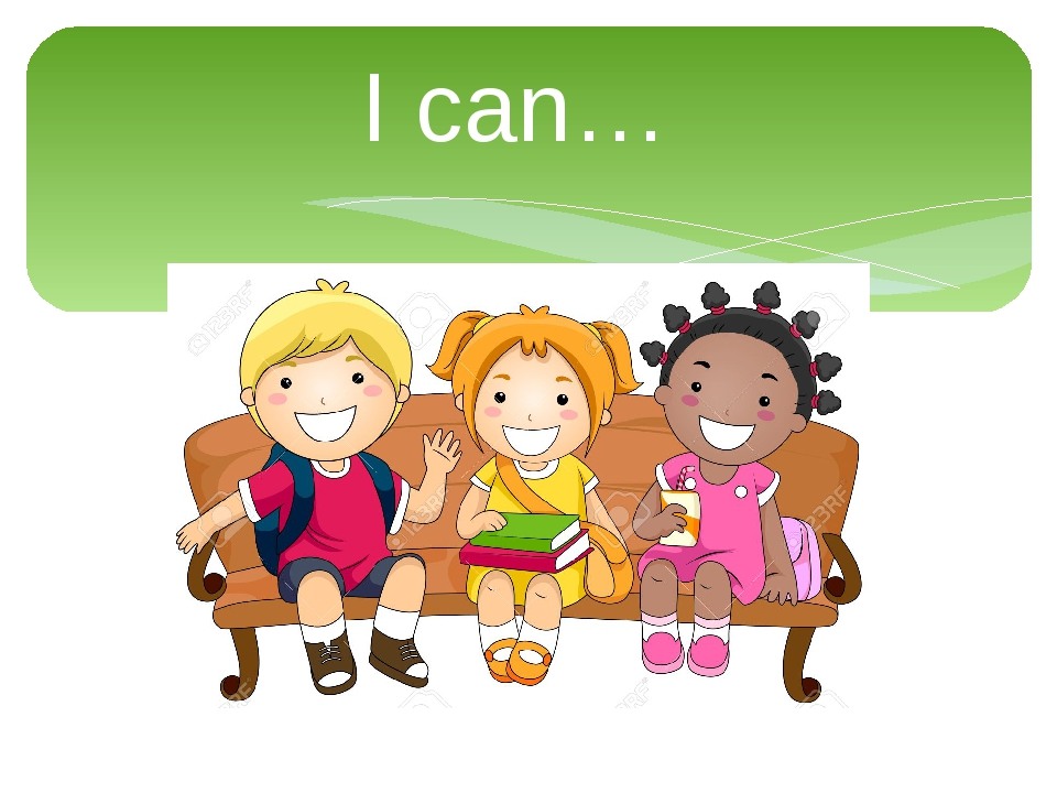 I can…