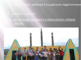 Основные направления работы 1. работа с детьми группы риска; 2. защита прав р