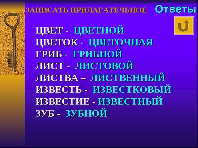 ЦВЕТ - ЦВЕТНОЙ ЦВЕТОК - ЦВЕТОЧНАЯ ГРИБ - ГРИБНОЙ ЛИСТ - ЛИСТОВОЙ ЛИСТВА – ЛИ...