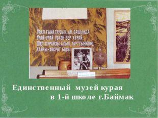 Единственный музей курая в 1-й школе г.Баймак
