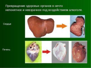 Превращение здоровых органов в нечто непонятное и невзрачное под воздействием