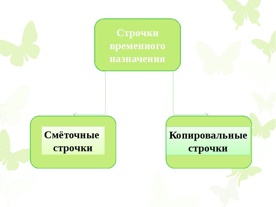 Строчки временного назначения Смёточные строчки Копировальные строчки