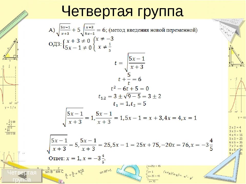 Суть метода: для решения уравнения f(x)=g(x) необходимо построить графики фу...
