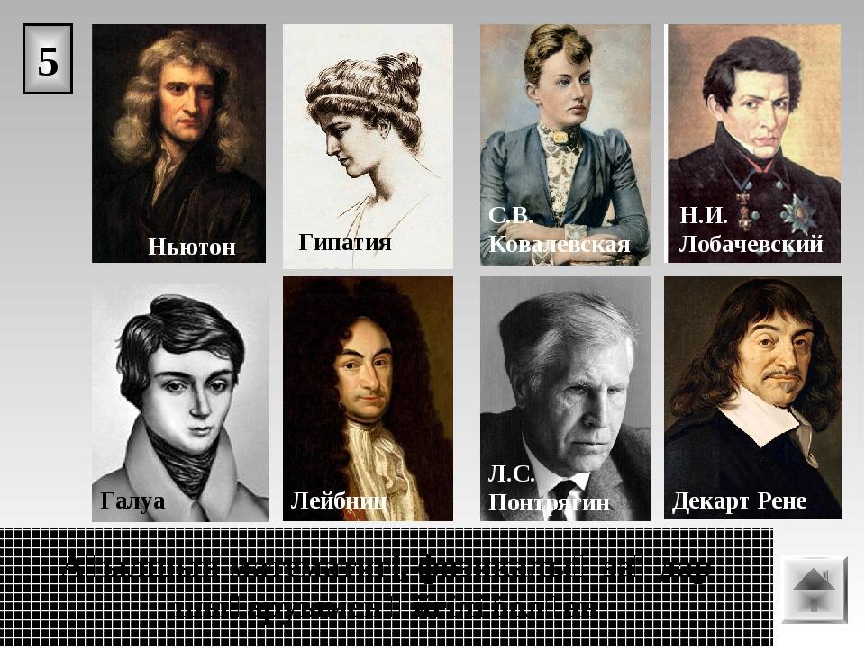 5 Ағылшын математигі, физикалық заңдар шығаруымен әйгілі болған.