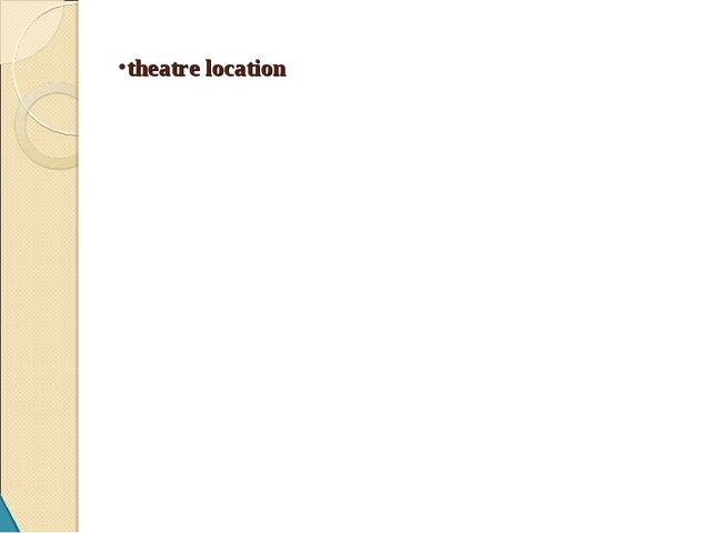 theatre location