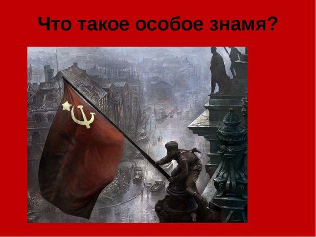 Что такое особое знамя?