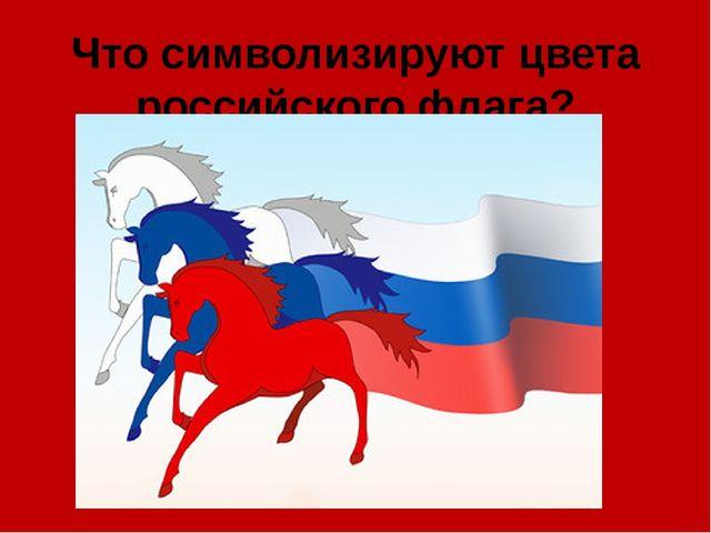 Что символизируют цвета российского флага?