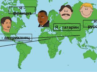 Я - русский Я - татарин Я - американец Я - француз