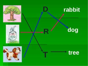 R D T rabbit dog tree