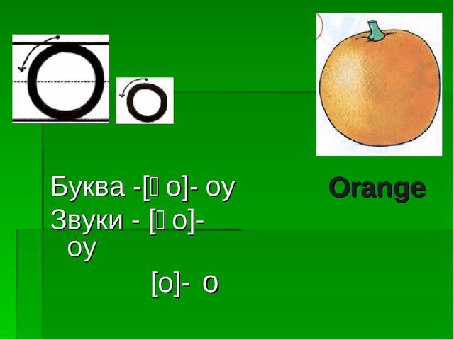 Буква -[əo]- оу Звуки - [əo]- оу [o]- о Orange