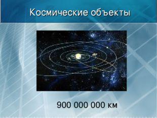 Космические объекты 900000000 км