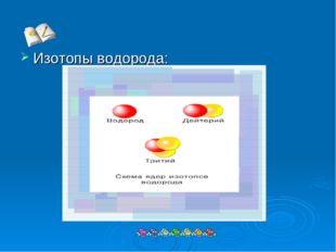 Изотопы водорода: