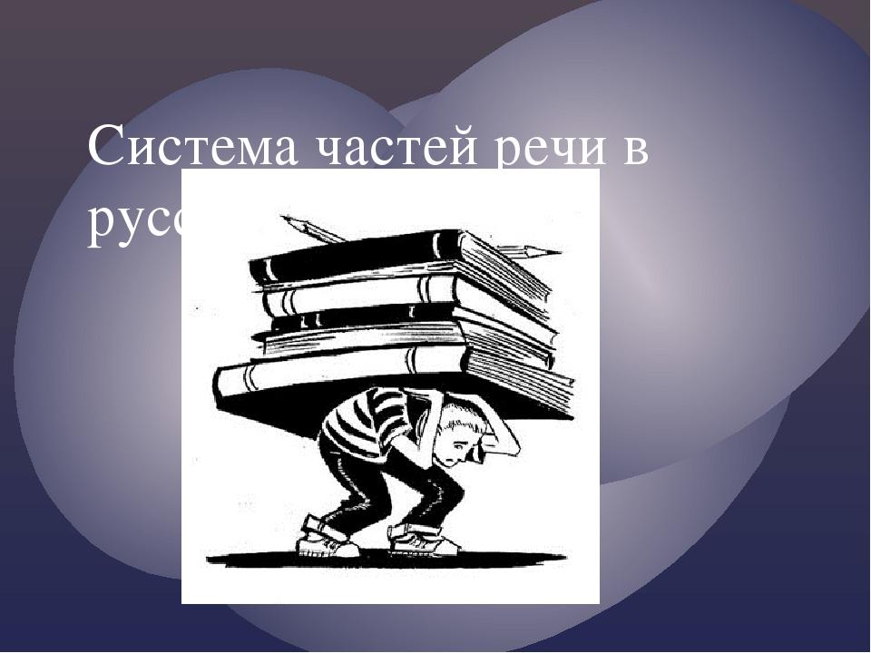 Система частей речи в русском языке.