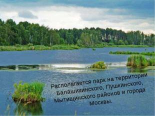 Располагается парк на территории Балашихинского, Пушкинского, Мытищинского р