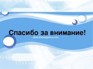 www.themegallery.com Спасибо за внимание! LOGO