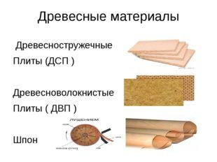 Древесные материалы Древесностружечные Плиты (ДСП ) Древесноволокнистые Плиты
